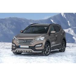 Pare-buffle barre de Spoiler et plaque de protection Hyundai Santa Fe (2012 -)
