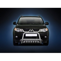 Pare-buffle avec plaque de protection Mitsubishi Outlander (2007-2009)