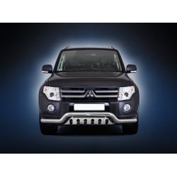 Pare-buffle barre de Spoiler et plaque de protection Mitsubishi Pajero (2007 - 2015)
