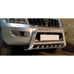 Pare-buffle avec grille Toyota Land Cruiser 120 (2002-2009)