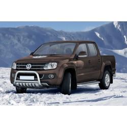 Pare-buffle avec plaque de protection Volkswagen Amarok (2009-2016)