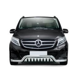 Pare-buffle barre et plaque de protection Mercedes V-class (2014-)