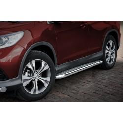 Marchepieds Honda CRV (2012 - 2016) - Plat Avec Plaque Anti Dérapante