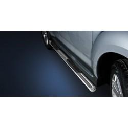 Marchepieds Mitsubishi Outlander (2010-2012) - Latéraux avec revêtement en plastique anti-dérapant -