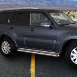 Marchepieds Mitsubishi Pajero (2007-2014) - Plat Avec Plaque Anti Dérapante -