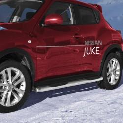 Marchepieds Nissan Juke (2010-) - Latéraux avec revêtement en plastique anti-dérapant -