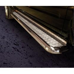 Marchepieds Nissan Pathfinder (2010-) - Plat Avec Plaque Anti Dérapante -