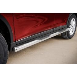 Marchepieds Nissan X-Trail (2014-) - Latéraux avec revêtement en plastique anti-dérapant -