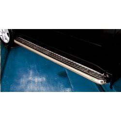 Marchepieds Nissan X-Trail (2010-2014) - Plat Avec Plaque Anti Dérapante -