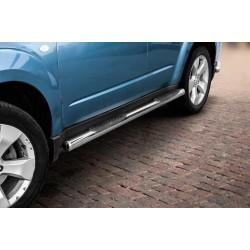 Marchepieds Subaru Forester (2008 - 2012) - Latéraux avec revêtement en plastique anti-dérapant -