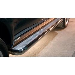 Marchepieds Toyota Hilux (2011 - 2015) - Plat avec plaque anti-dérapante -