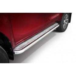 Marchepieds Toyota Hilux (2015-) - Plat avec plaque anti-dérapante -