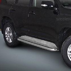 Marchepieds Toyota Land Cruiser 150 (2013-2016) - Plat avec plaque anti-dérapante -