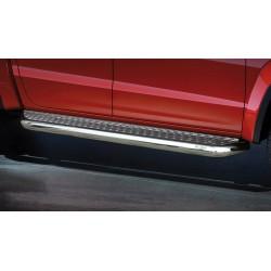 Marchepieds VW Amarok (2016-) - Plat avec plaque anti-dérapante perforée -