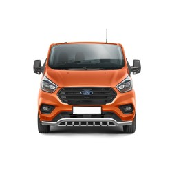 Barre pare-buffle avec grille de protection Ford Transit Custom (2018-)