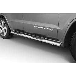 Marchepieds Jeep Grand Cherokee (2015 -) - Latéraux avec revêtement en plastique anti-dérapant -