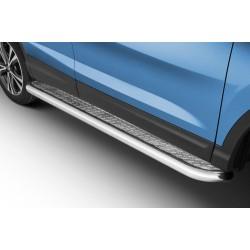 Marchepieds Nissan Qashqai (2017-) - Plat Avec Plaque Anti Dérapante -