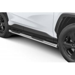 Marchepieds Toyota RAV4 à partir de 2018 - Latéraux avec revêtement en plastique anti-dérapant -