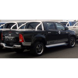 Couvre Benne Couvercle en ABS Toyota Hilux avec RollBar Poli - (2005-2011)