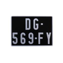 Plaque d'immatriculation noire voiture de collection 300x200 (nouvelle immat)