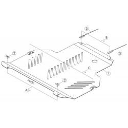 Plaque de protection moteur et boite de vitesses Ford Connect (2013-)