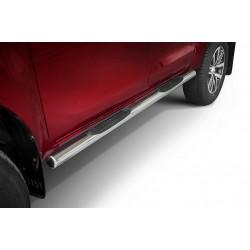 Marchepieds Toyota Hilux (2018-) - Latéraux avec revêtement en plastique anti-dérapant -