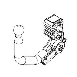 Attelage Volkswagen Tiguan II à partir de 2016 [Rotule avec outils]