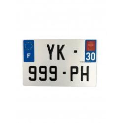 Plaque d'immatriculation moto
